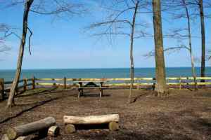 Lake Erie Tent Campsite