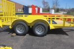 yellow landscape trailer