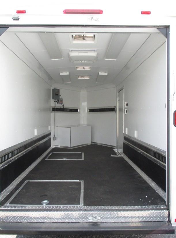 custom cargo trailer interior
