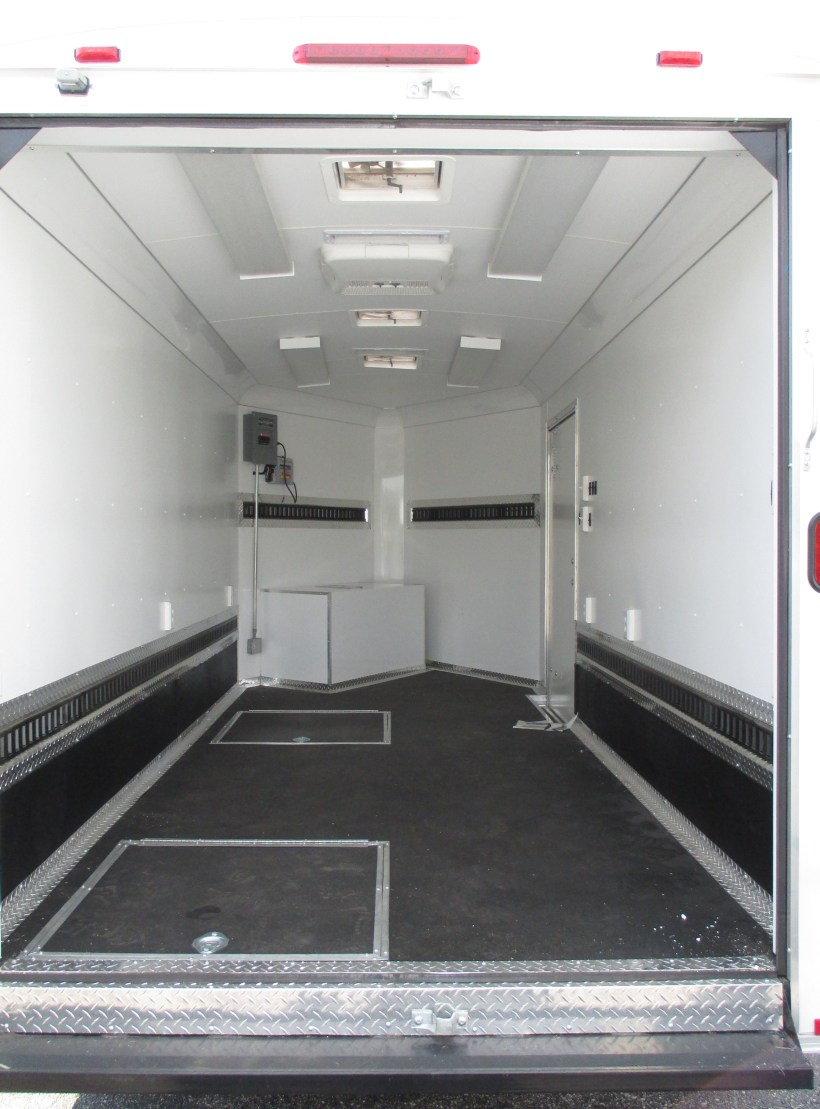 custom cargo trailer interior