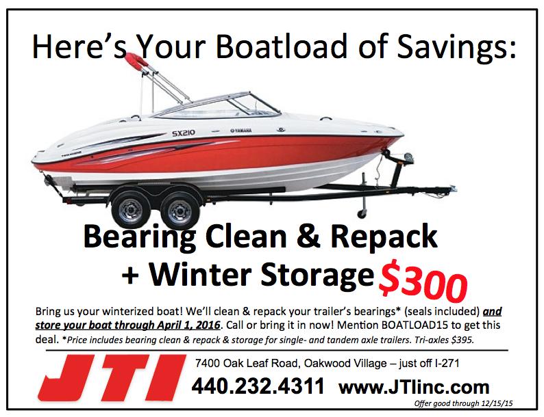 Clean & Repack Bearings, Store Your Boat & Trailer Right   JTI Inc ...