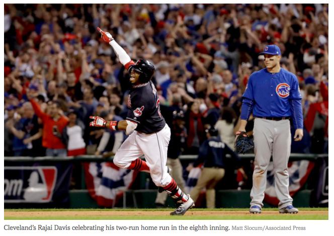 Rajai Davis Cleveland Indians World Series